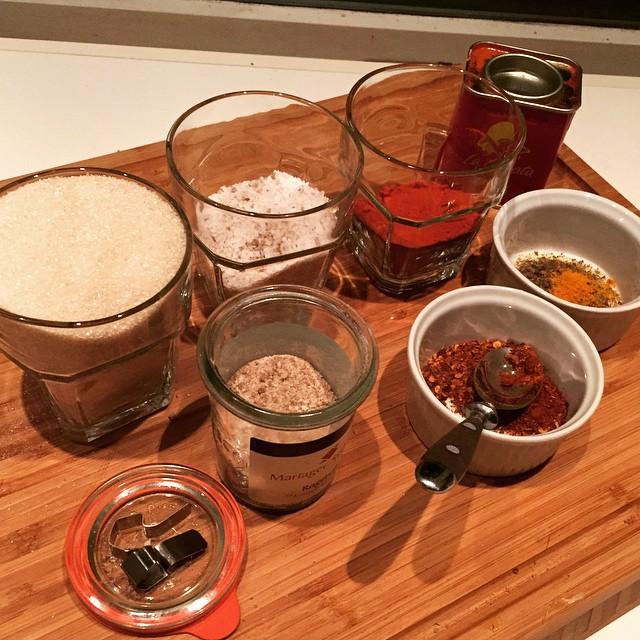 Dry rub ingredients