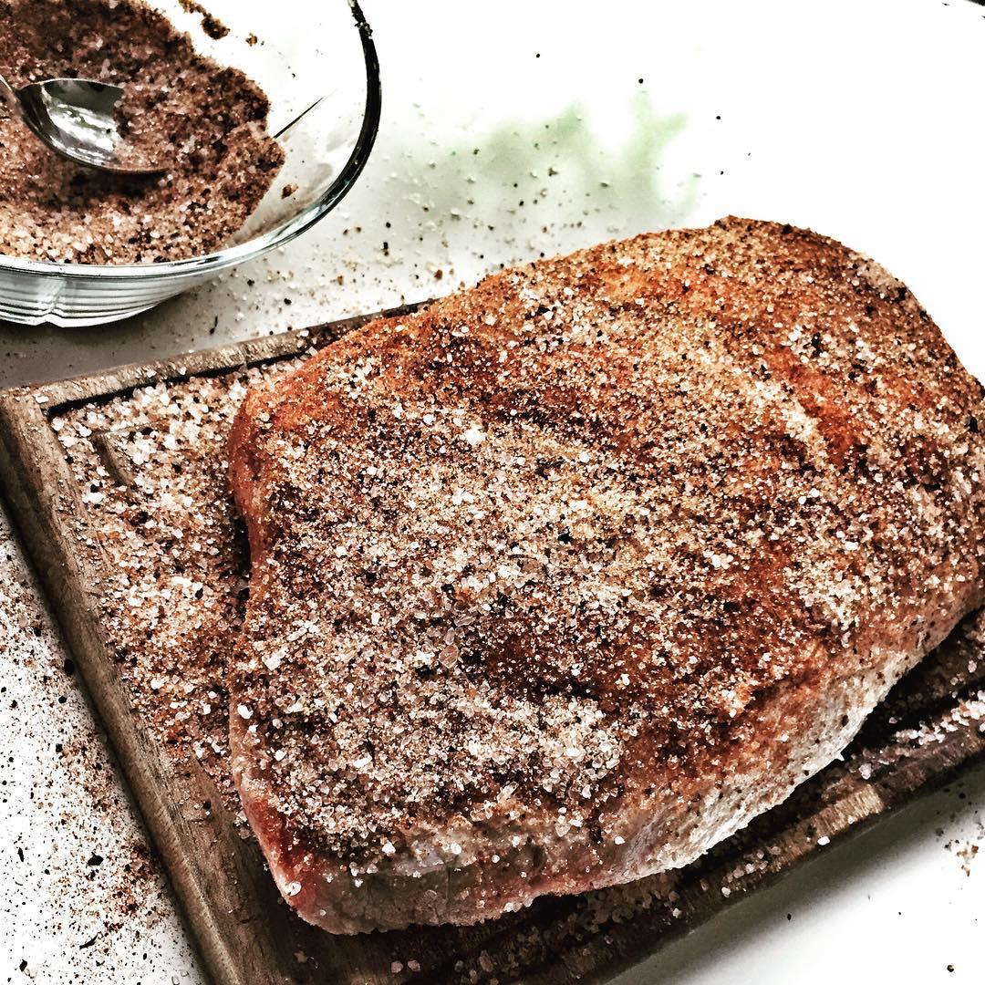 dry rub on pork shoulder roast