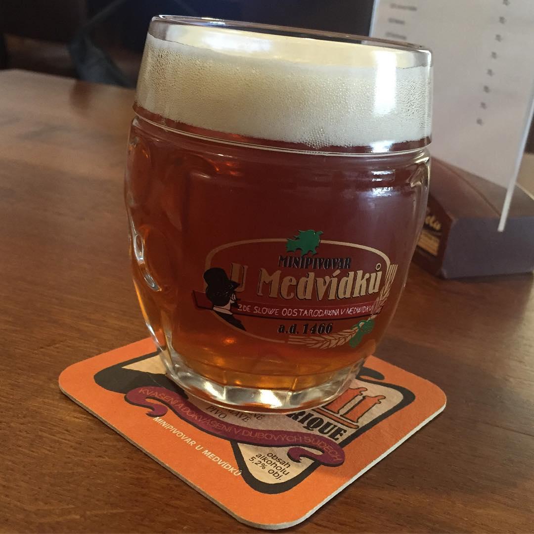 Welcome beer at Umedviku Brewery Hotel