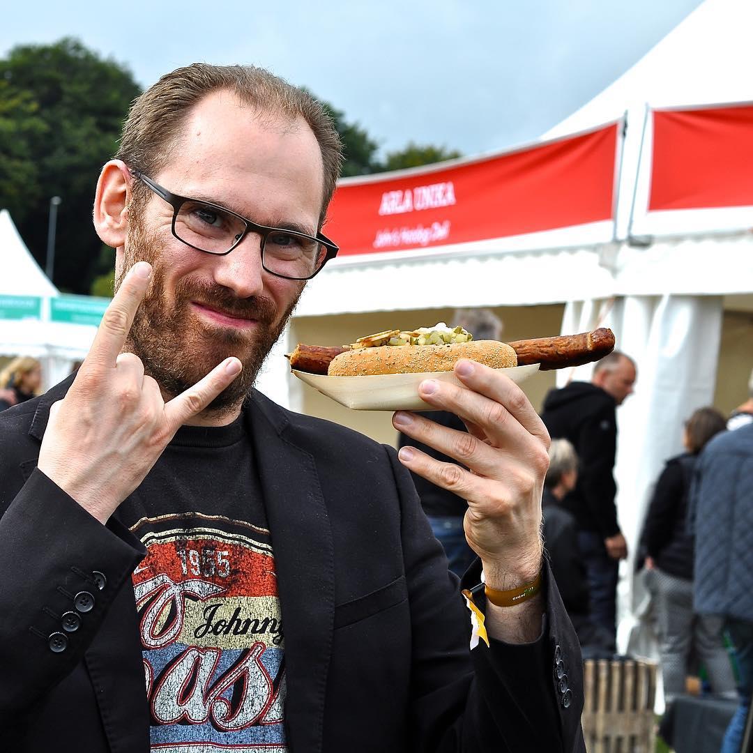 Johan at Food Festival