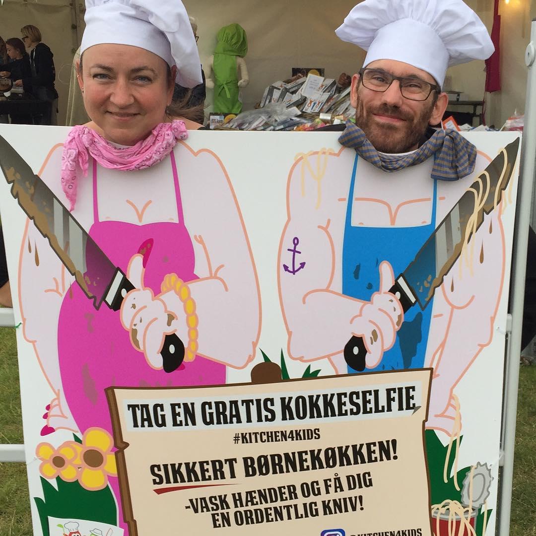 Johan and Malou at Food Festival