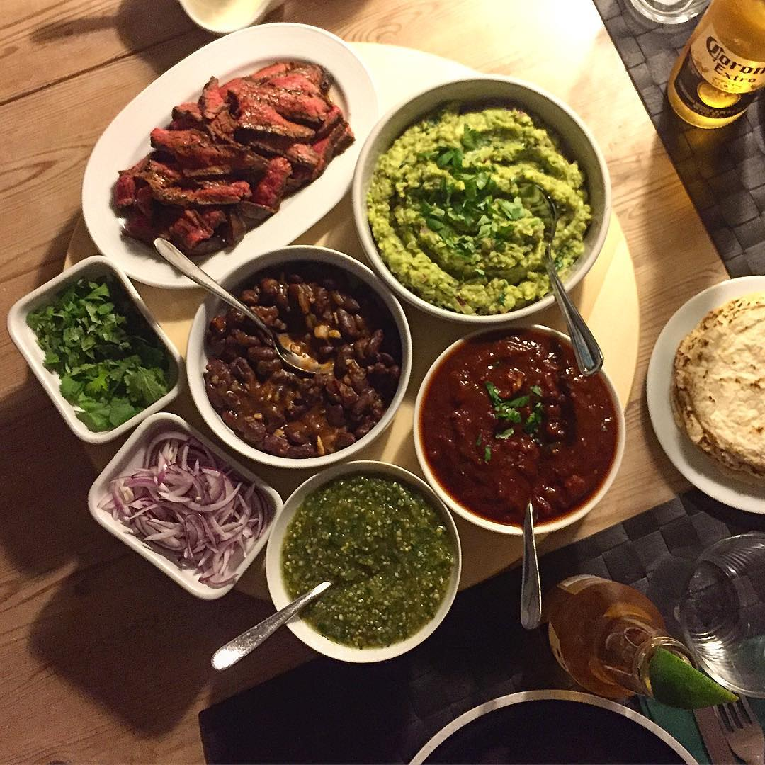 selection of mexican dishes