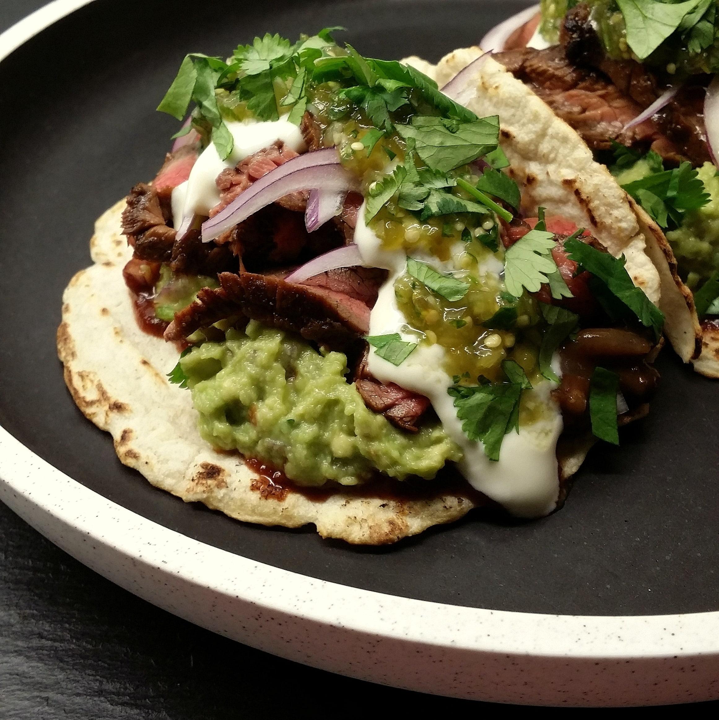 salsa verde on tacos