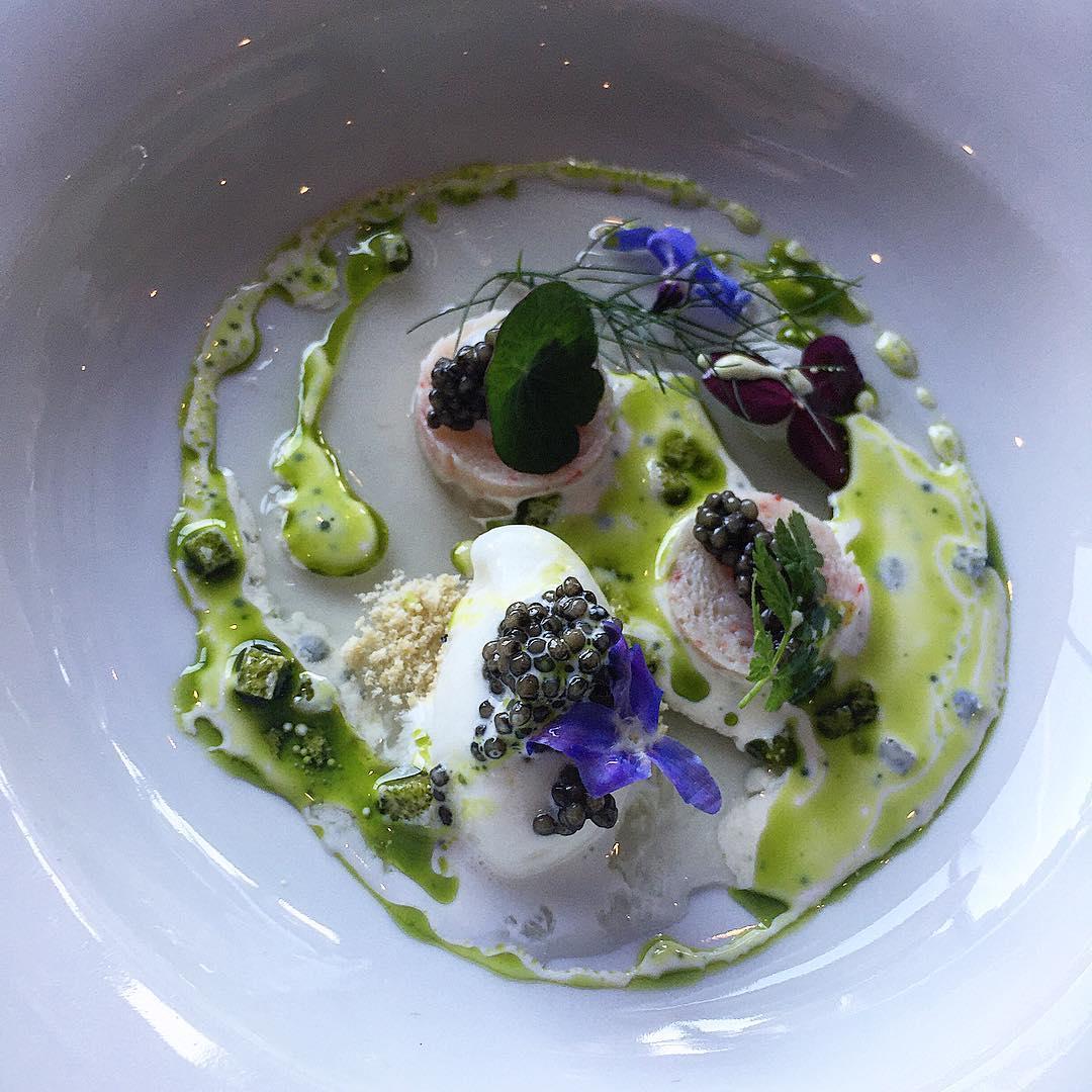 caviar, king crab and lemon sorbet