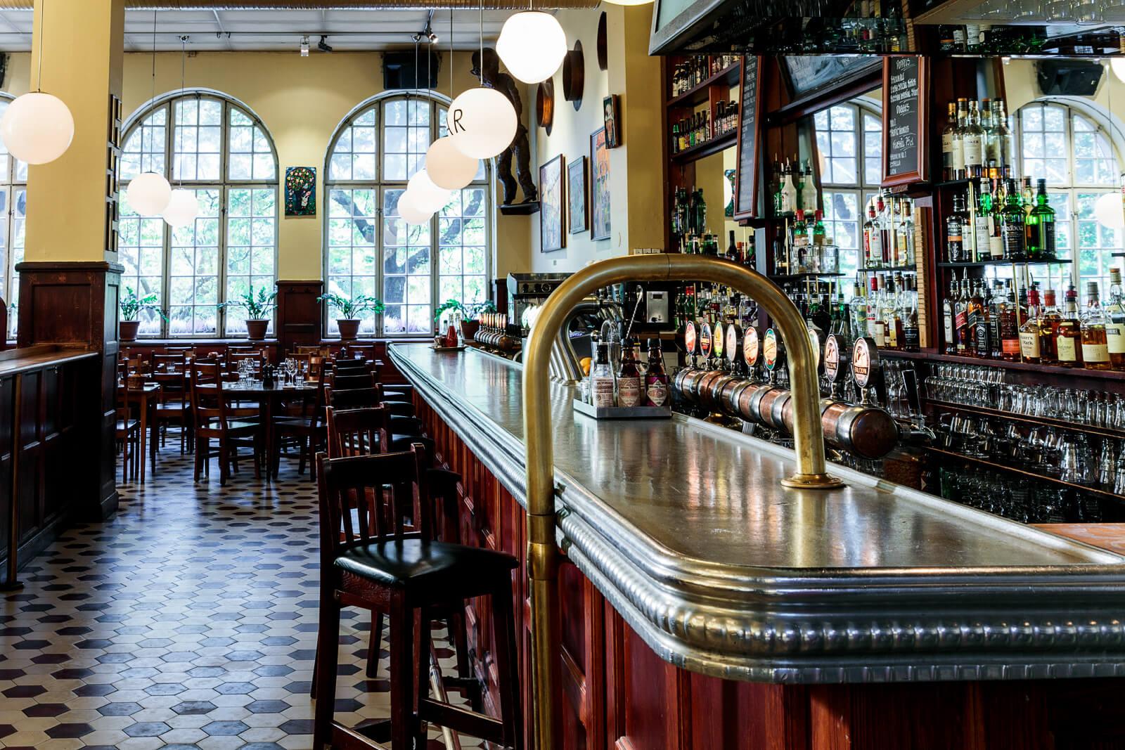 bar and interior at Kvarnen in Stockholm