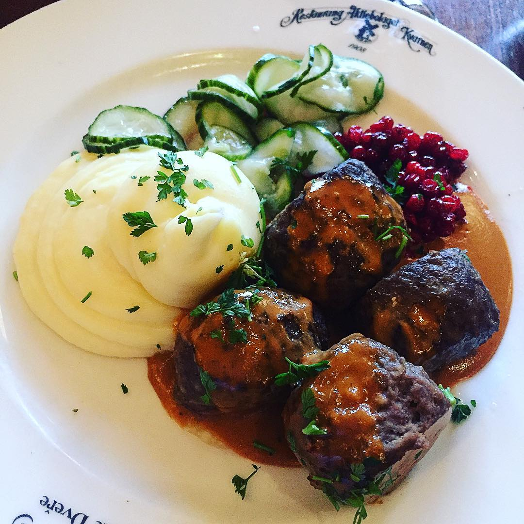 Swedish meatballs at Restaurang Kvarnen