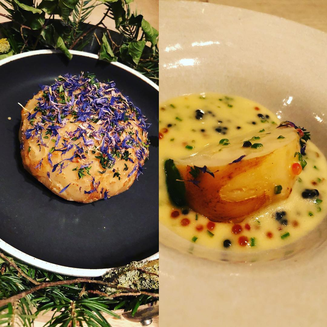 celeriac, brown butter and caviar - dish at restaurant substans